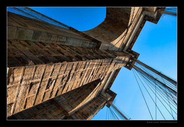 Brooklyn Bridge Tilted