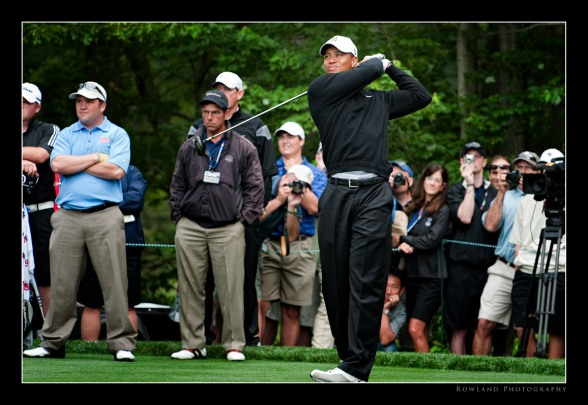 Tiger Teeing Off