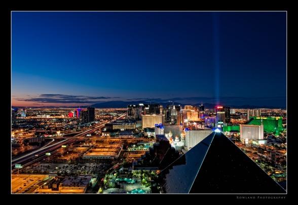Las Vegas at Dusk (c) Joseph Rowland 2009