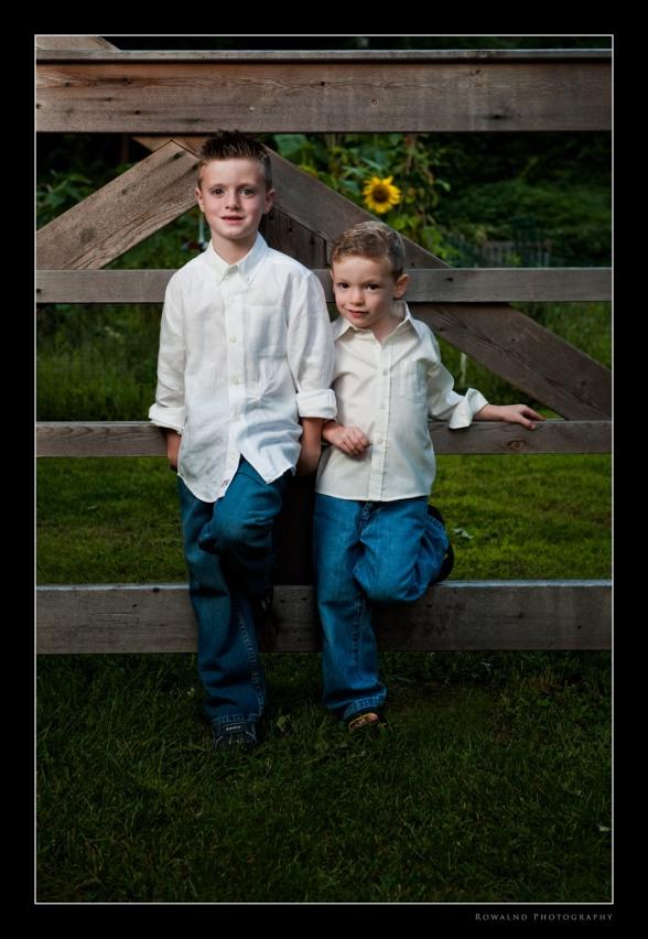 Tristan & Aidan Portrait (c) Joseph Rowland 2009
