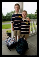 Tristan and Aidan 1st Day of School